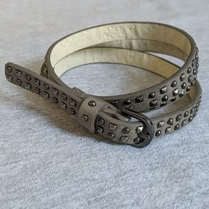 Gray embellished skinny belt size XXL